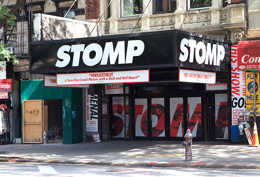 Stomp At The Orpheum Theatre In The East Village
