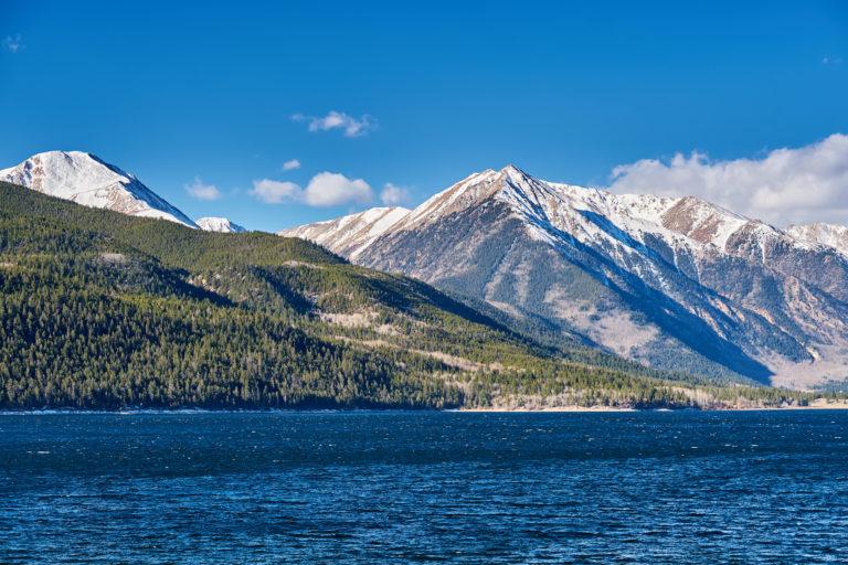 Mountain and lake. Rocky Mountains, Colorado, USA.