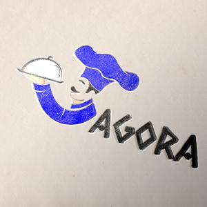 Agora Restaurant Logo Design