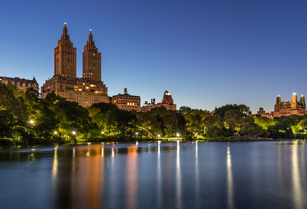 Veiw Of The San Remo From The Lake In Central Park