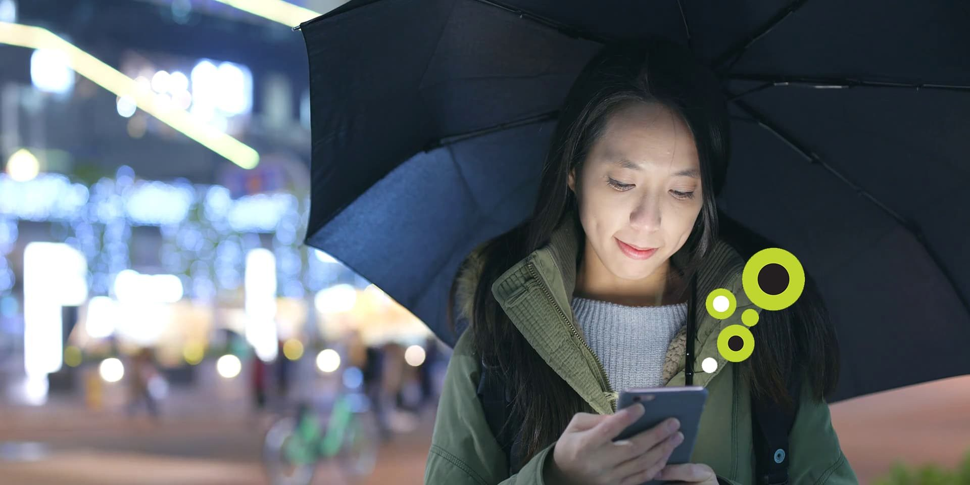 9fe42764 Videoblocks Woman Use Of Cellphone In City With Bring Umbrella Bngndfcavf Thumbnail Full01