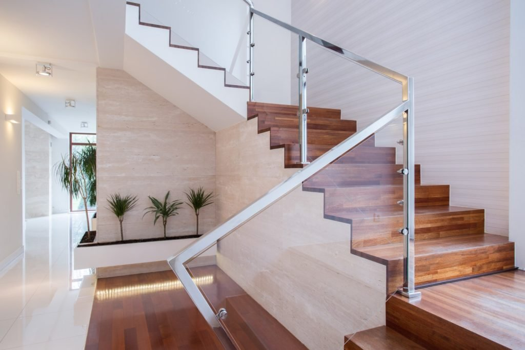 Stylish Staircase In Bright Interior