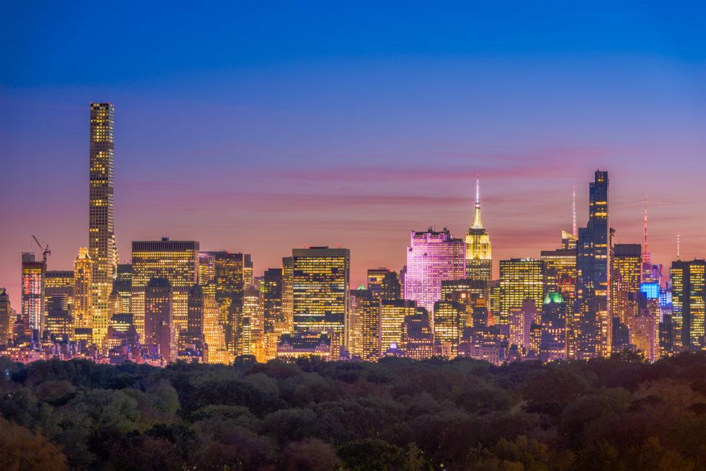 New York City Central Park Skyline 243ugdq