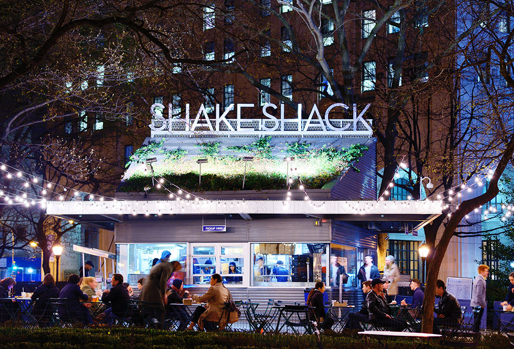 The Shake Shack In Madison Square Park In The Flatiron District