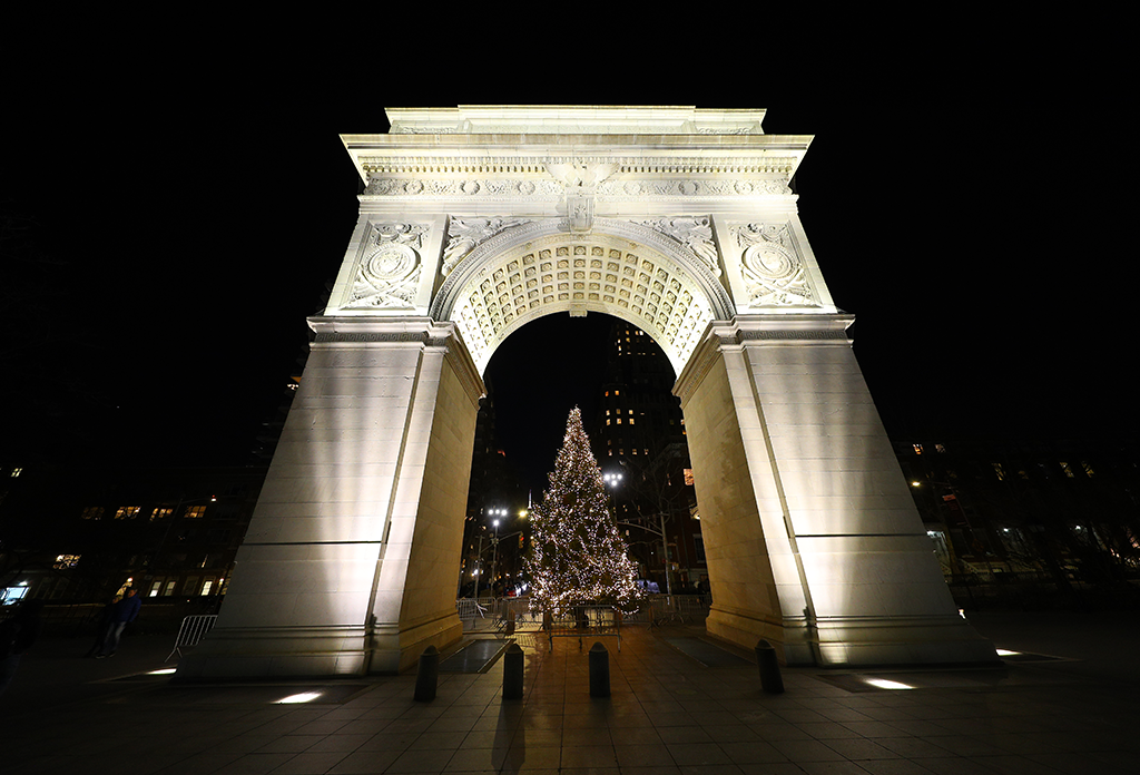 The Washington Sqaure Arch In Greenwich Village