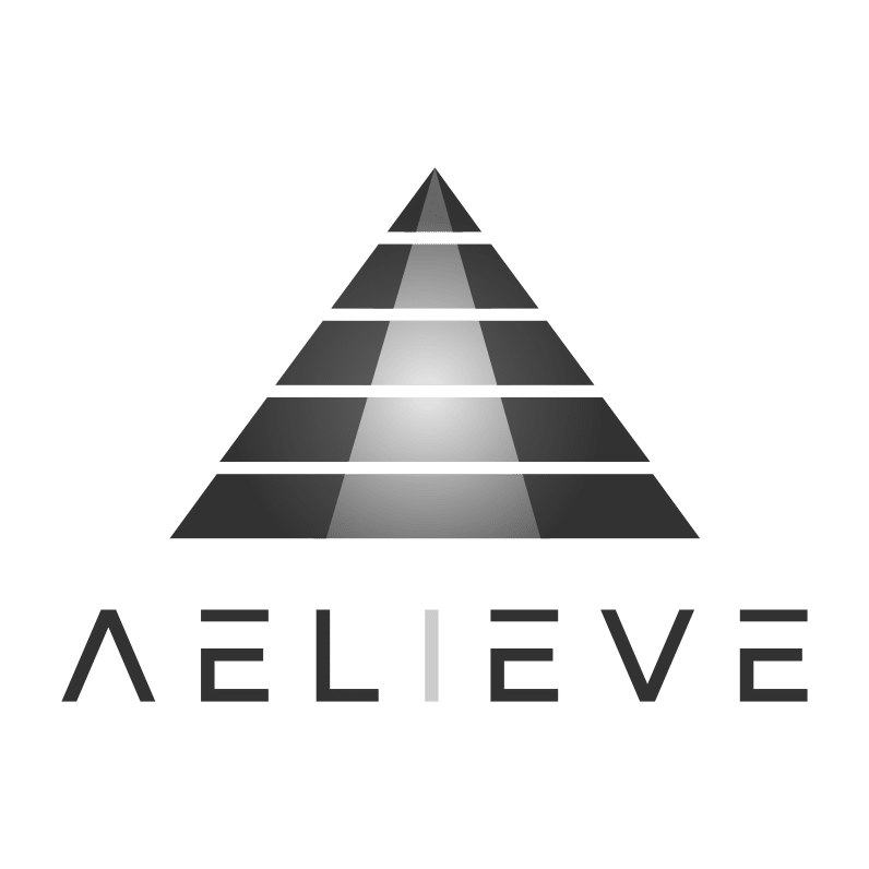 Aelieve Logo Square No Hex W Text