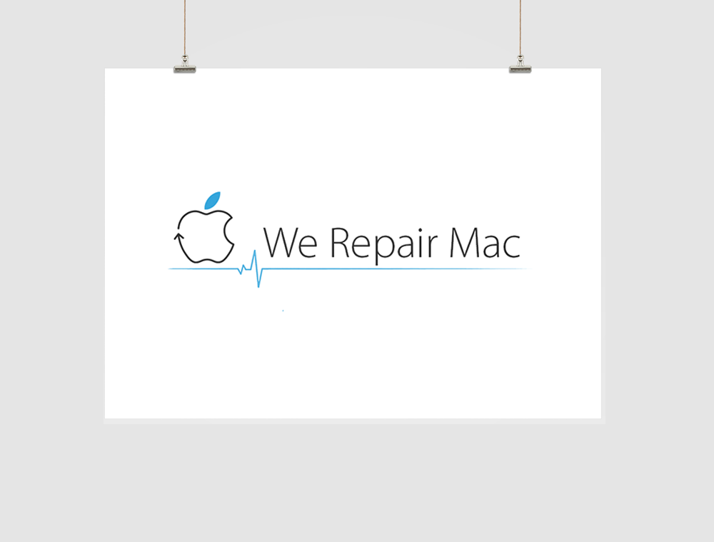 We Repair Mac Logo Design