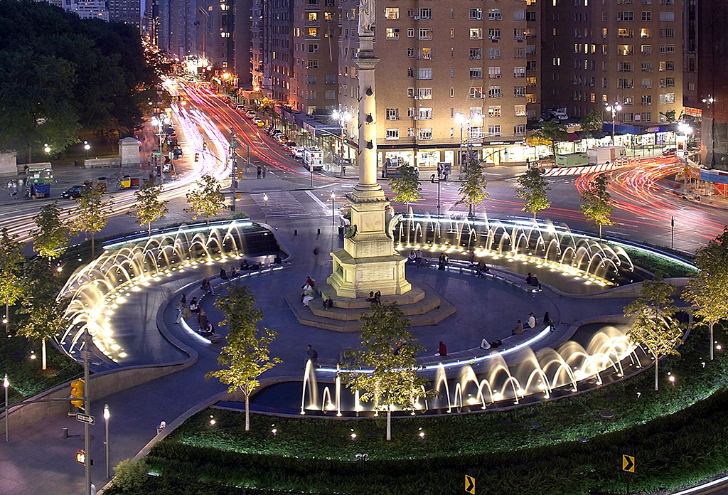 Columbus Circle At Night