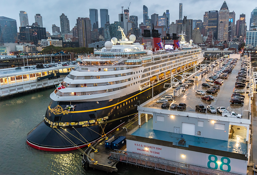 Disney Magic Cruise Ship At The Manhattan Cruise Terminal In Midtown West