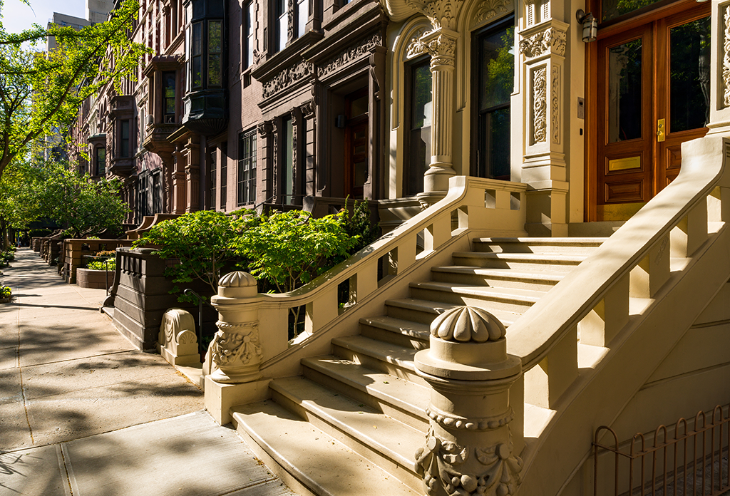 Brownstones On The Upper West Side