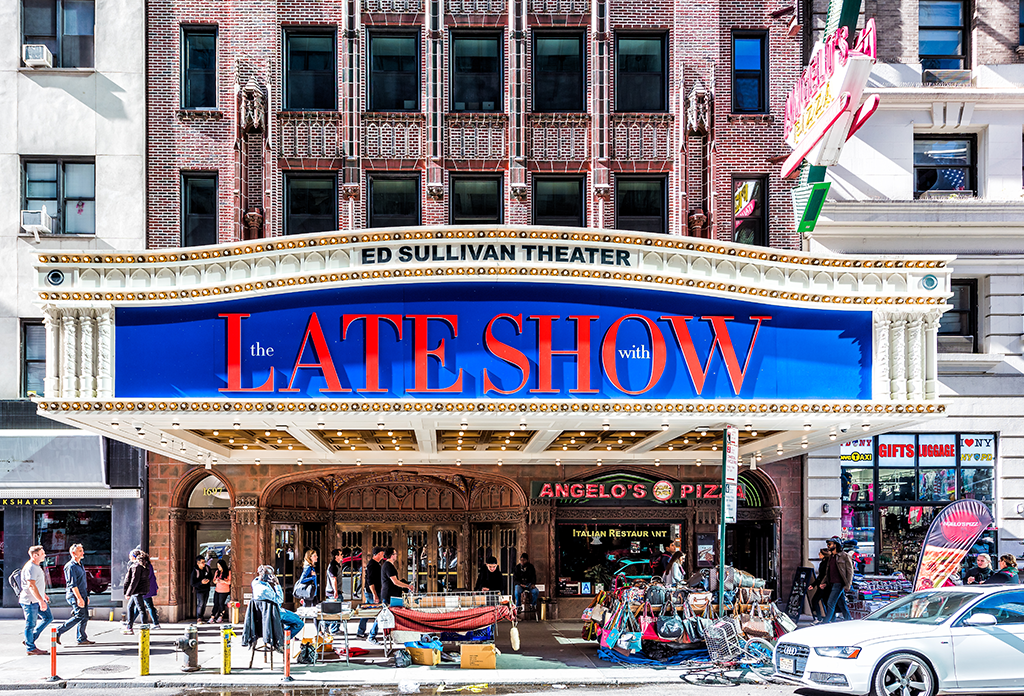 The Late Show At The Ed Sullivan Theatre In The Theater District