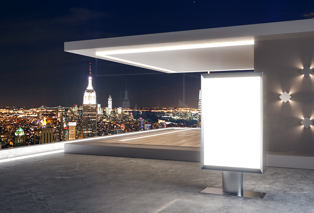 Modern Outdoor Space Overlooking The Empire State Building