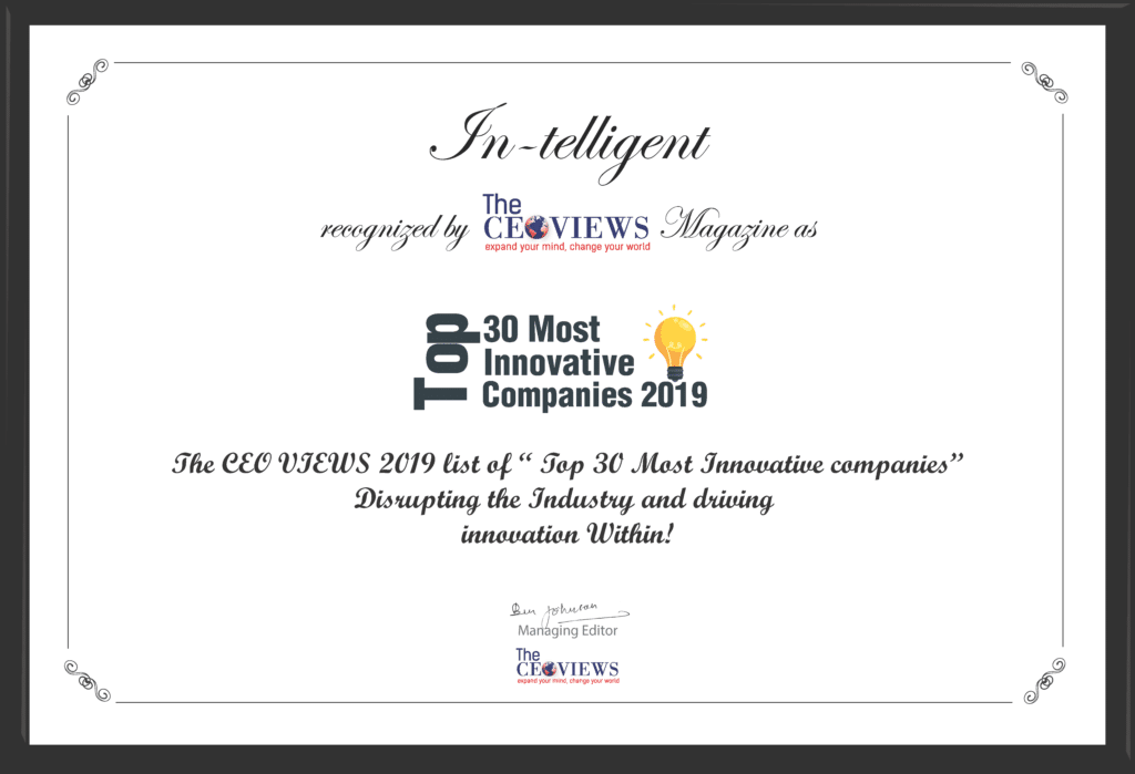 IN-TELLIGENT NAMED ONE OF TOP 30 MOST INNOVATIVE COMPANIES BY THE CEO VIEWS