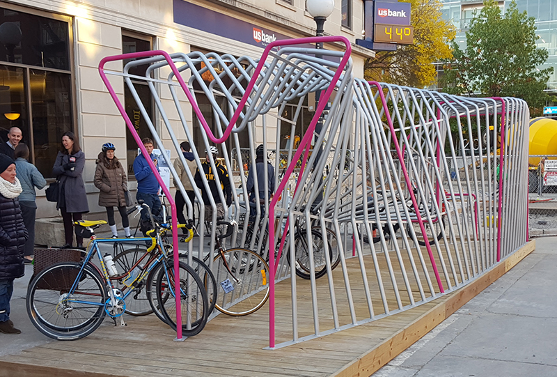 Iowa City Bike Parklet