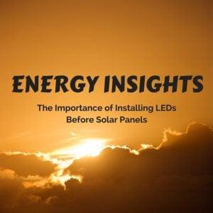 Installing LEDs before solar panels