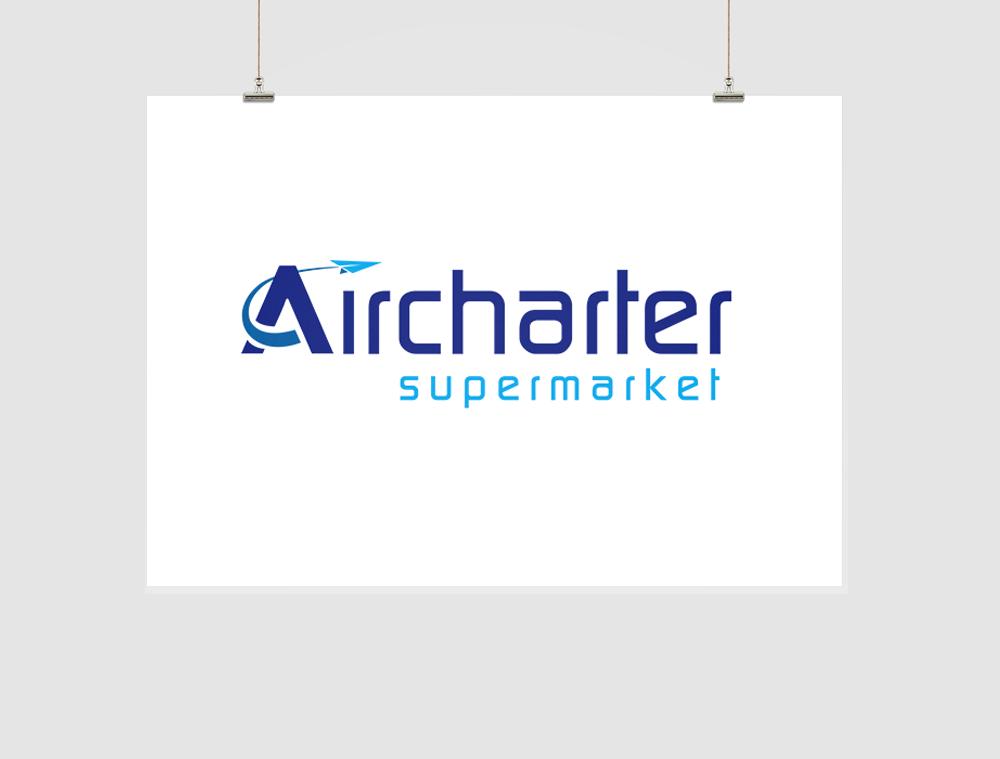 Aircharter Supermarket Logo Design