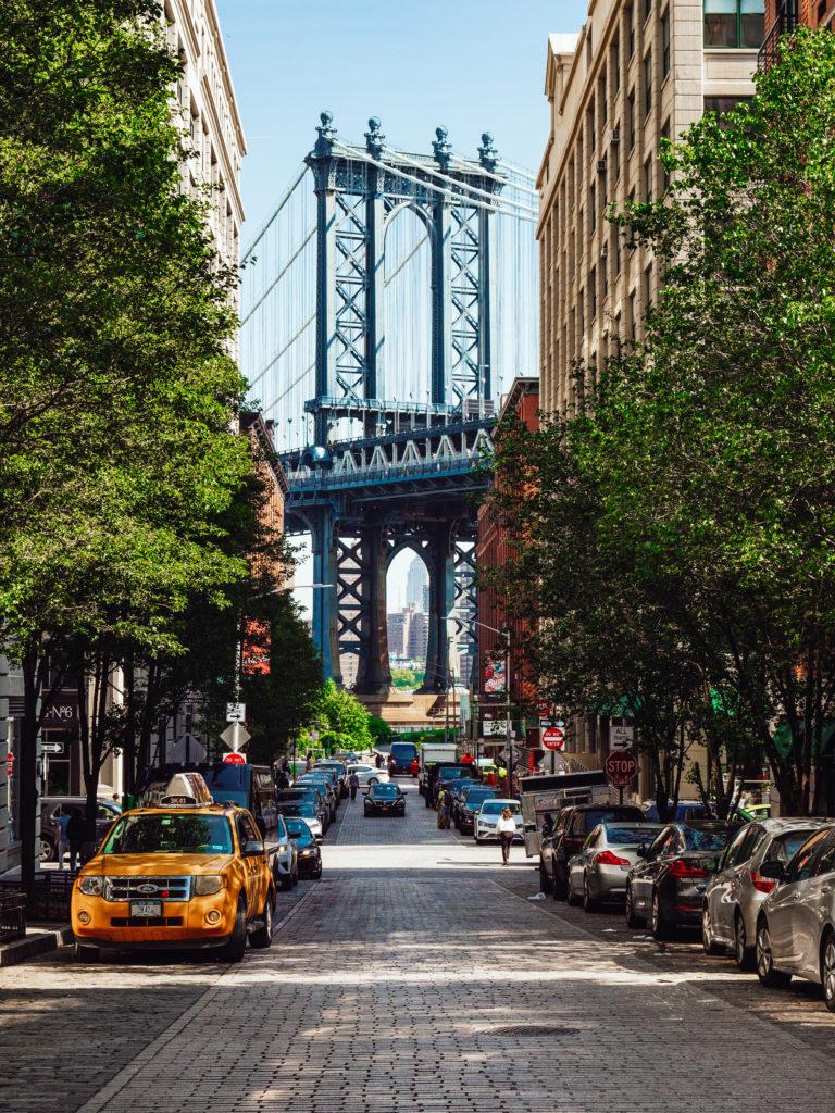 Famous Manhattan Bridge In New York