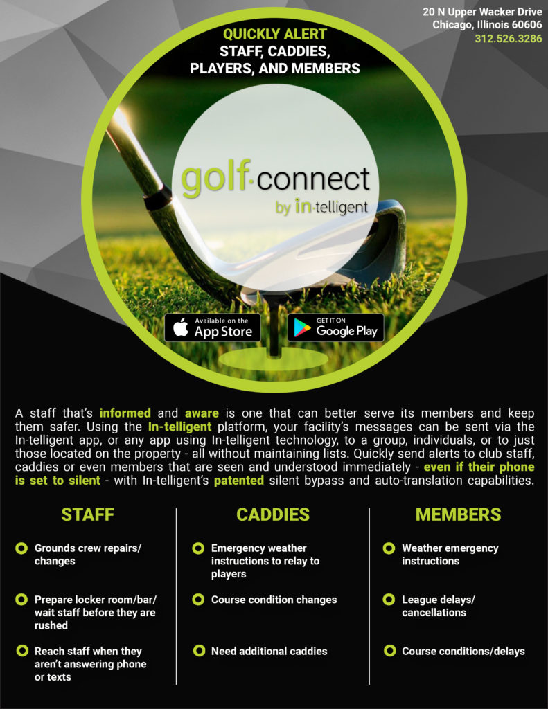 GOLFCONNECT KEEPS STAFF AND MEMBERS SAFER AND INFORMED