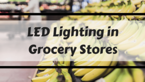 bananas in led lighting in grocery stores