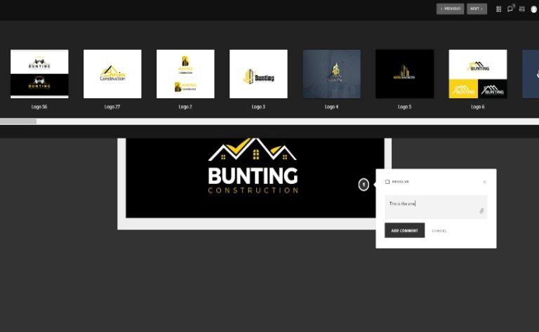 Bunting Construction – Logo Design Selection – Aelieve Client Feedback Portal (2)