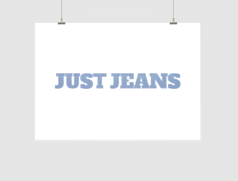 Just Jeans Logo Design
