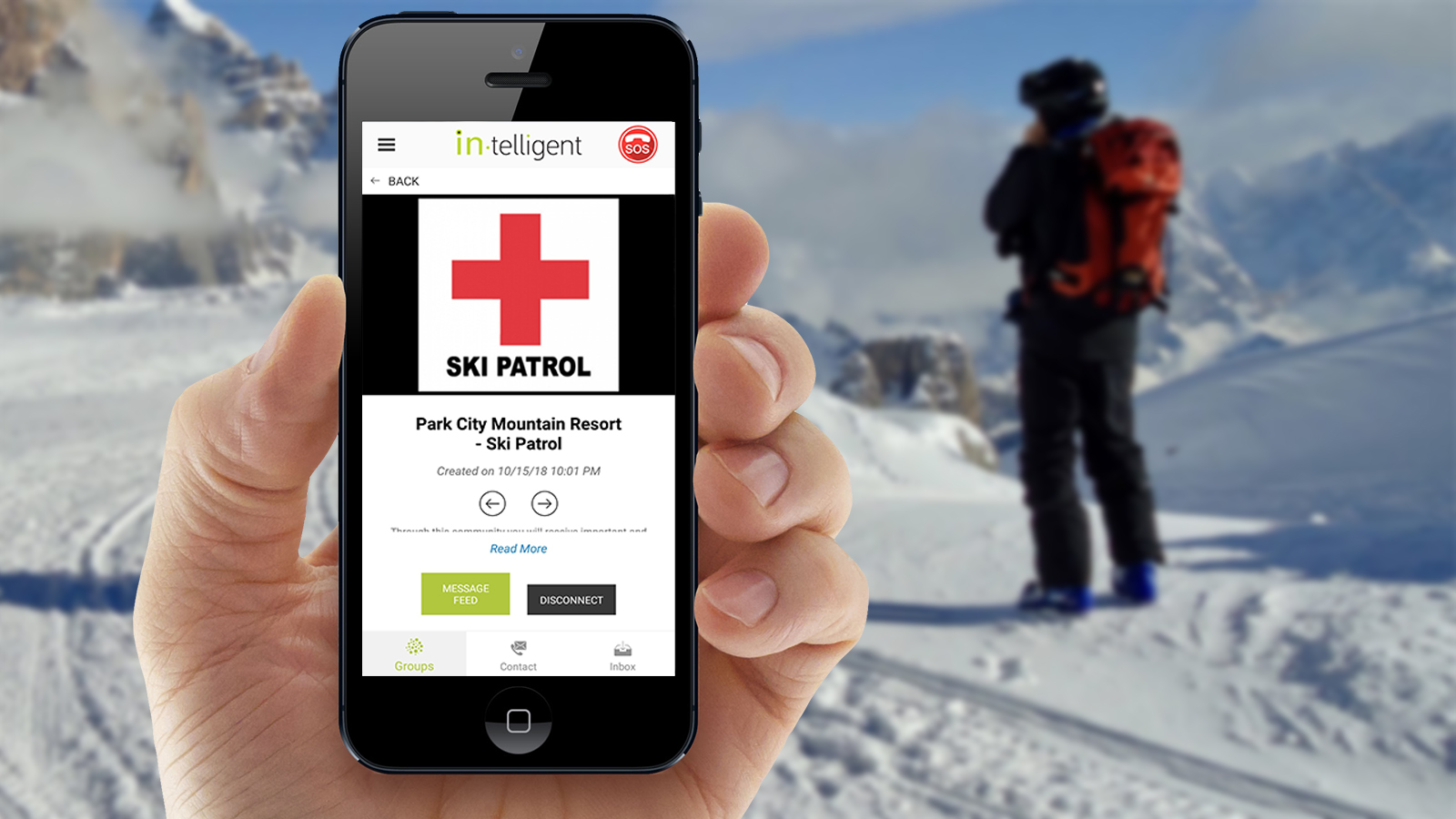 IN-TELLIGENT KEEPS SKIERS AND SNOWBOARDERS SAFE WITH SKICONNECT EMERGENCY CONTACT SERVICE