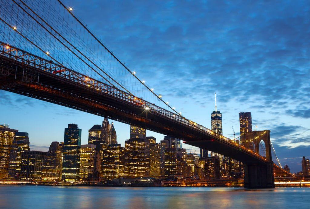 Fd546d6c New York City Skyline By Night 8fhzcl6 1024x690